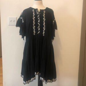 Free People Black & White Dress